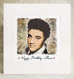 elvis presley personalised birthday card ; s-l300-10
