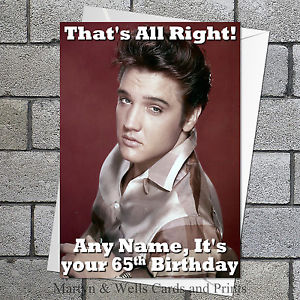 elvis presley personalised birthday card ; s-l300-2