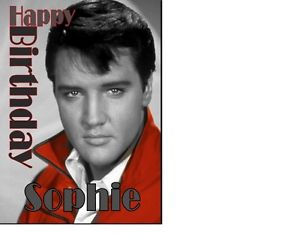 elvis presley personalised birthday card ; s-l300-4