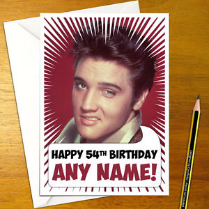 elvis presley personalised birthday card ; s-l300-6