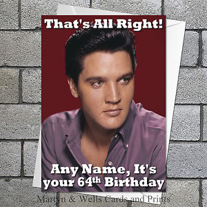 elvis presley personalised birthday card ; s-l300-8