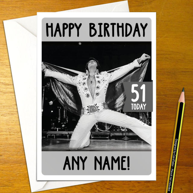 elvis presley personalised birthday card ; s-l640