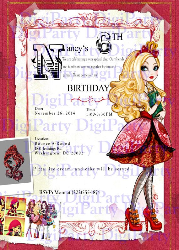 ever after high birthday card ; 134c4f01bc1cf4cfc8c24e12d51adcb0