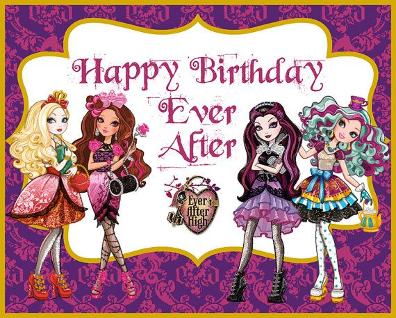 ever after high birthday card ; 4c31e99efaa90730c1095cf20268ce47--party-decoration-parties-decorations