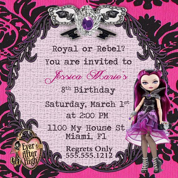 ever after high birthday card ; 7595ee93e6327561366d99fe4cf06715