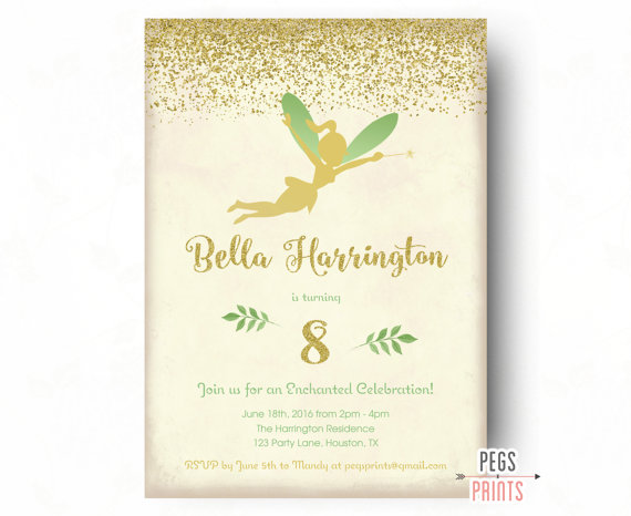 fairy photo birthday invitations ; il_570xN-1