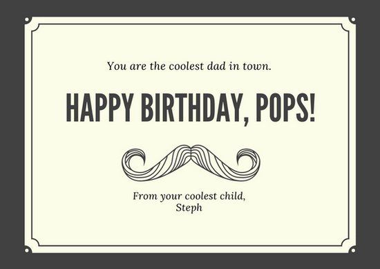 father birthday card template ; canva-black-and-cream-dad-birthday-card-MACY1W2woys