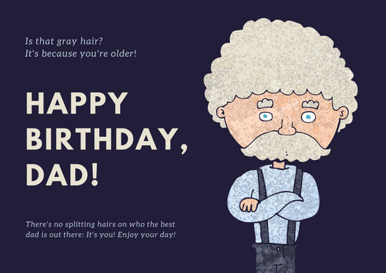father birthday card template ; canva-blue-and-gray-old-man-sketched-dad-birthday-card-MACXtHMfp6o