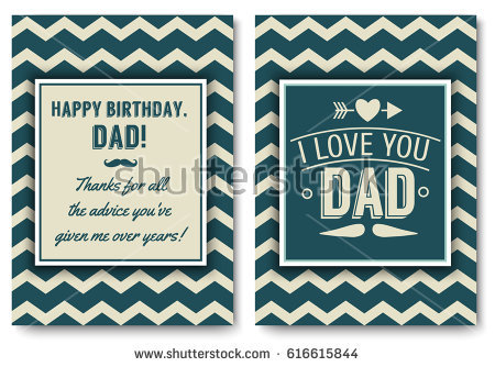 father birthday card template ; stock-vector-dad-happy-birthday-card-set-i-love-you-words-for-greeting-card-or-festive-poster-banner-for-dear-616615844