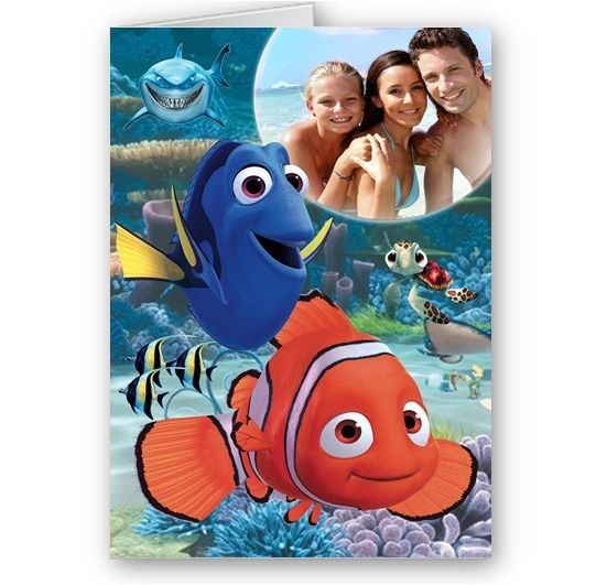 finding nemo personalised birthday card ; personalised-photo-finding-nemo-dory-happy-birthday-christmas-a5-card-4668-p