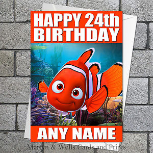 finding nemo personalised birthday card ; s-l300-1
