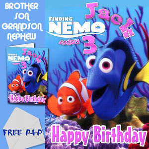 finding nemo personalised birthday card ; s-l300-2