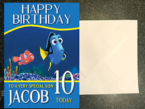 finding nemo personalised birthday card ; s-l300-4