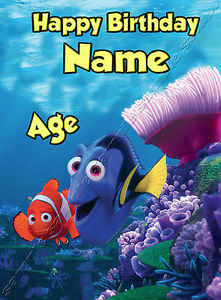 finding nemo personalised birthday card ; s-l300-6
