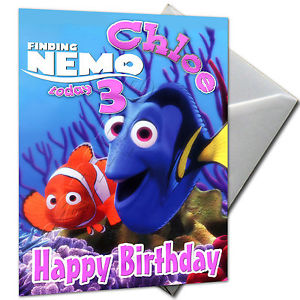 finding nemo personalised birthday card ; s-l300-8