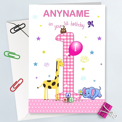 first birthday greeting for baby girl ; 430x430-baby-girl-first-birthday-card