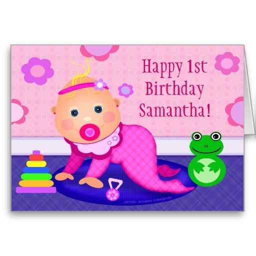 first birthday greeting for baby girl ; ea43d55fe69002aaef638346f4978e4b