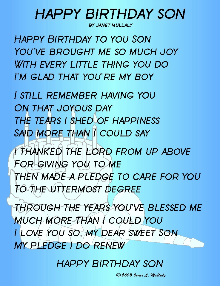 first birthday poem to my son ; HAPPY%252BBIRTHDAY%252BSON