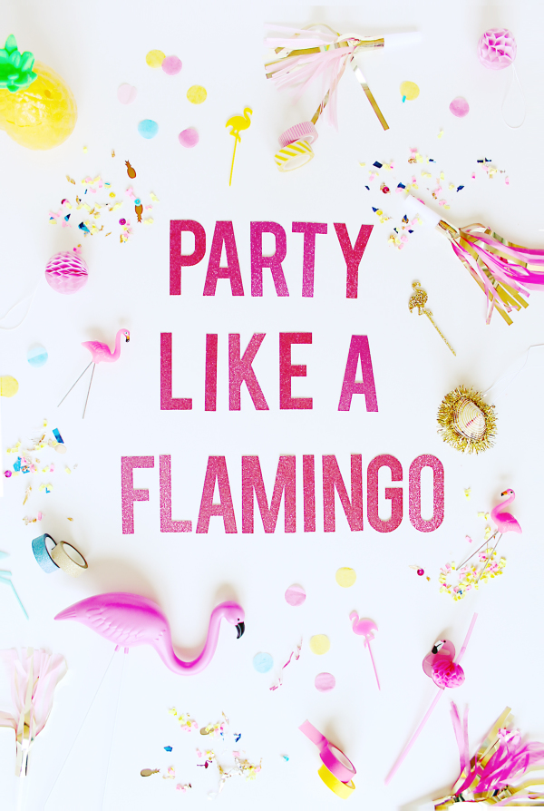flamingo happy birthday banner ; party-like-a-flamingo-party-banner-e1415757685712
