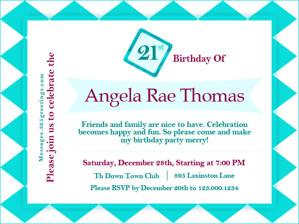 formal invitation wording for birthday party ; 21st-birthday-party-invitation-wording