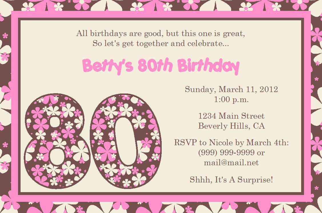 formal invitation wording for birthday party ; Free-80th-Birthday-Invitations-Templates-Theme-for-Your-Birthday