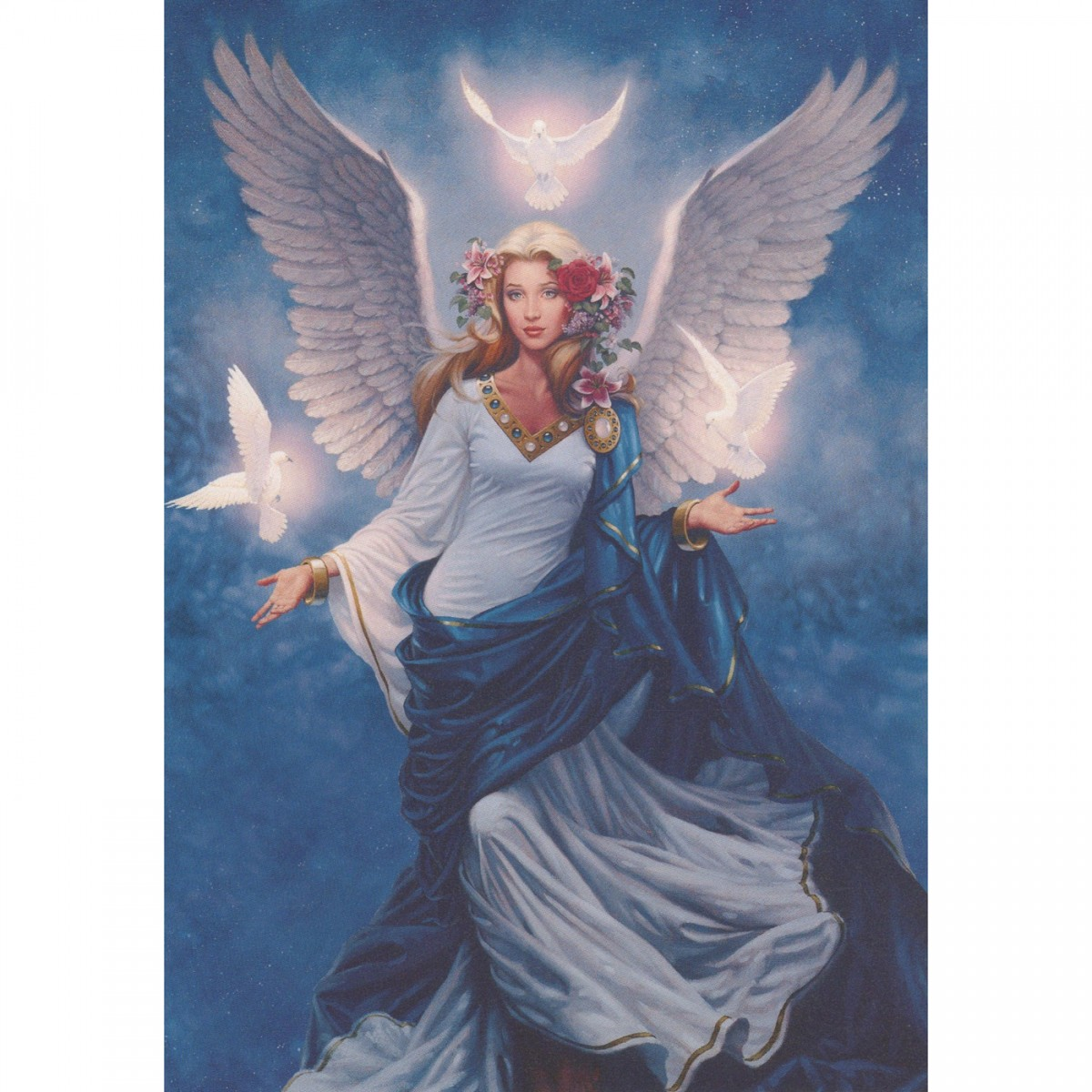 free angel birthday greeting cards ; 23000-Z1
