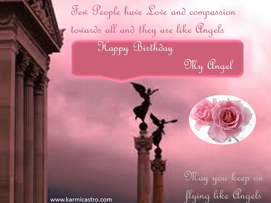free angel birthday greeting cards ; 305244