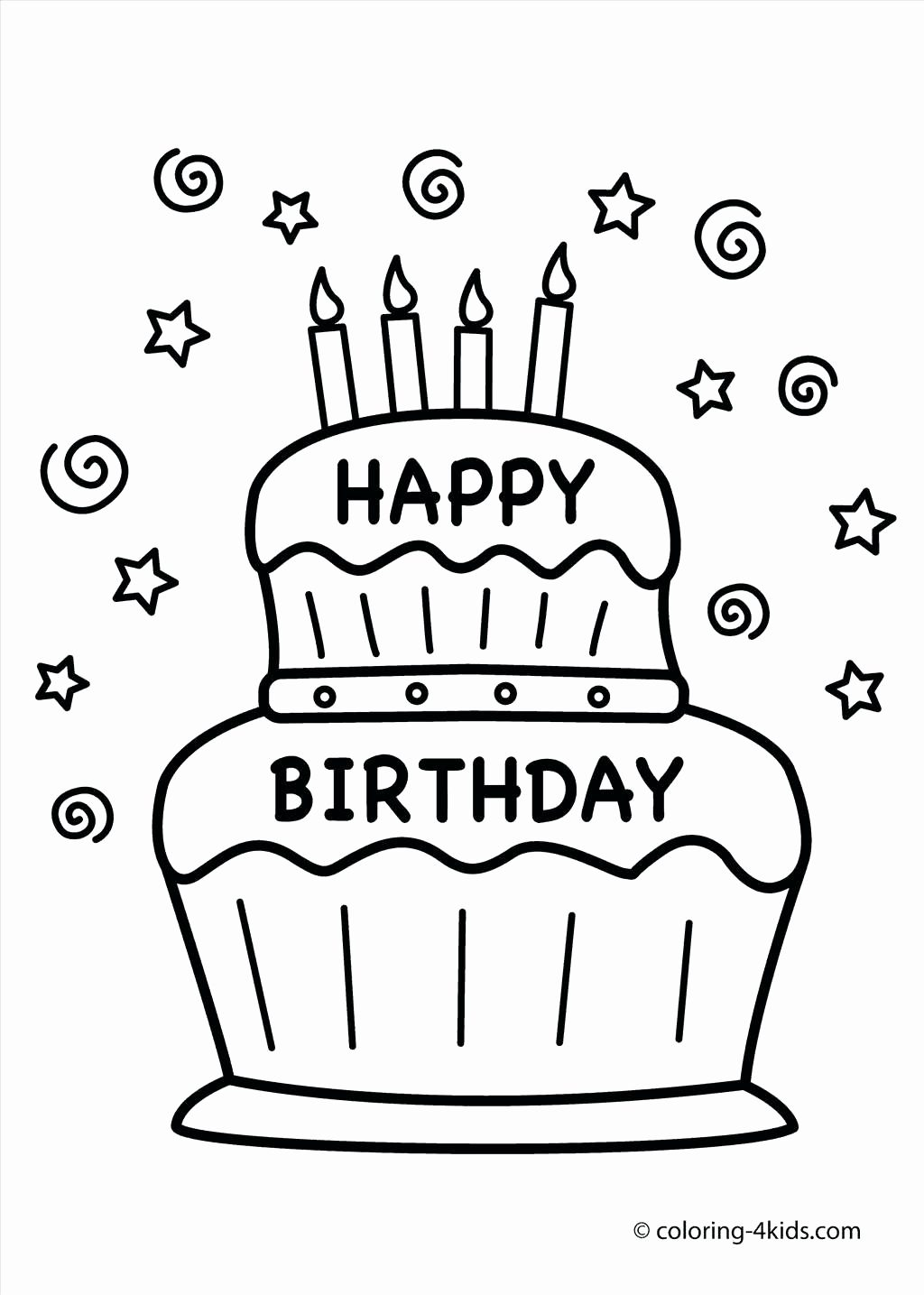 free birthday coloring pages to print ; printable-birthday-coloring-pages-example-cake-page-free-of-astonishing-picture-1024x1435