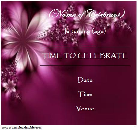 free birthday templates online ; Printable-Online-Birthday-Invitation