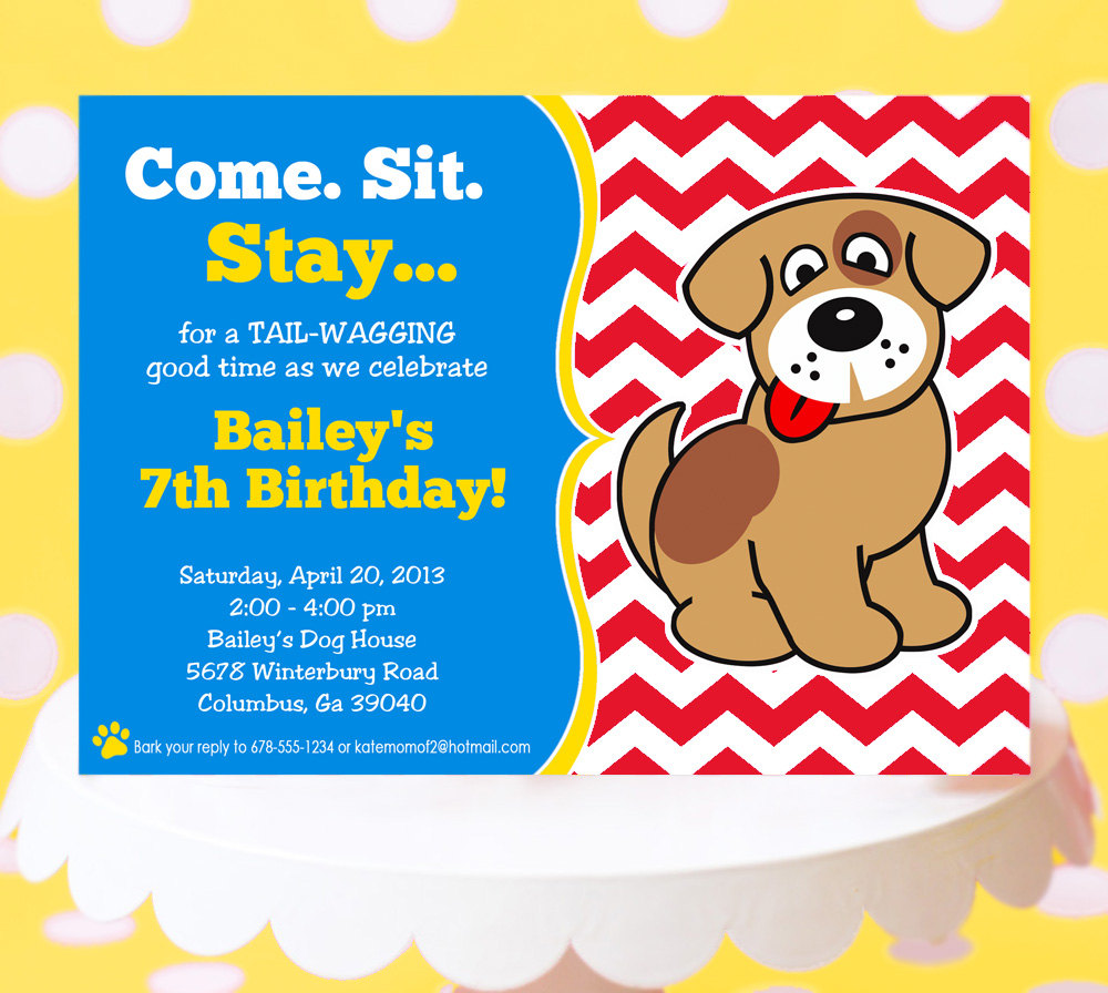 free dog birthday invitation templates ; dog-birthday-party-invitations-and-exceptional-Party-Invitation-Template-designing-then-you-will-get-a-different-28