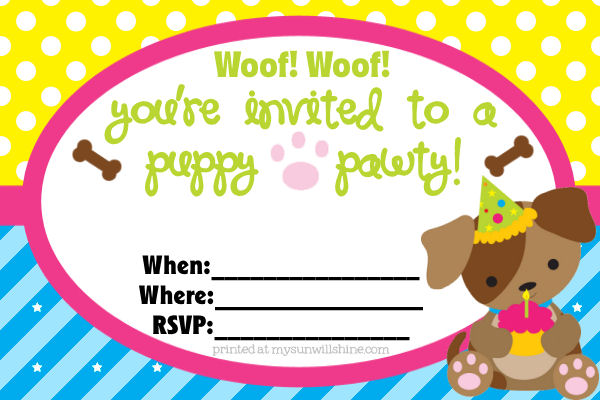 free dog birthday invitation templates ; puppy-party-invitations-together-with-a-picturesque-view-of-your-Party-Invitation-Templates-using-glamorous-invitations-1