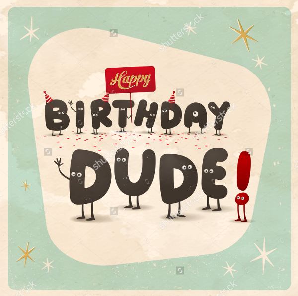 free funny birthday card templates ; Vintage-Style-Funny-Birthday-Card