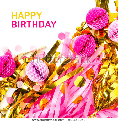 free happy birthday images to copy ; stock-photo-happy-birthday-card-pink-and-gold-abstract-festive-decoration-background-with-copy-space-flat-lay-691169050