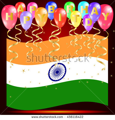 free happy birthday images to copy ; stock-vector-happy-birthday-balloons-with-india-flag-and-golden-star-confetti-isolated-on-red-background-with-456116422