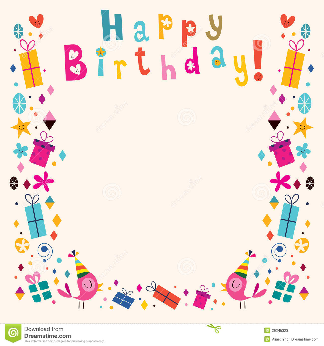 free happy birthday picture frames ; happy-birthday-frame-clipart-1