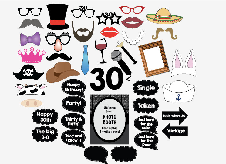 free printable 30th birthday photo booth props ; 30th-birthday-photo-booth-il-fullxfull