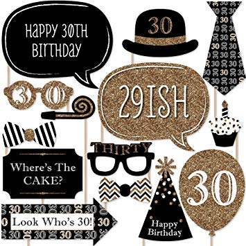 free printable 30th birthday photo booth props ; 81HztUCsFeL