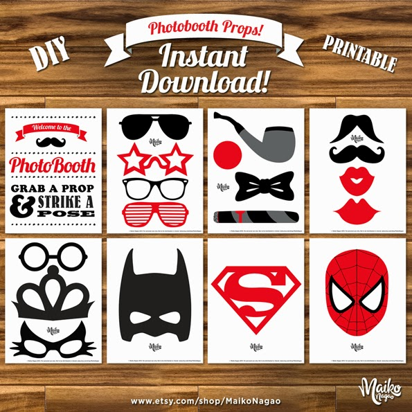 free printable 30th birthday photo booth props ; Photobooth+Props