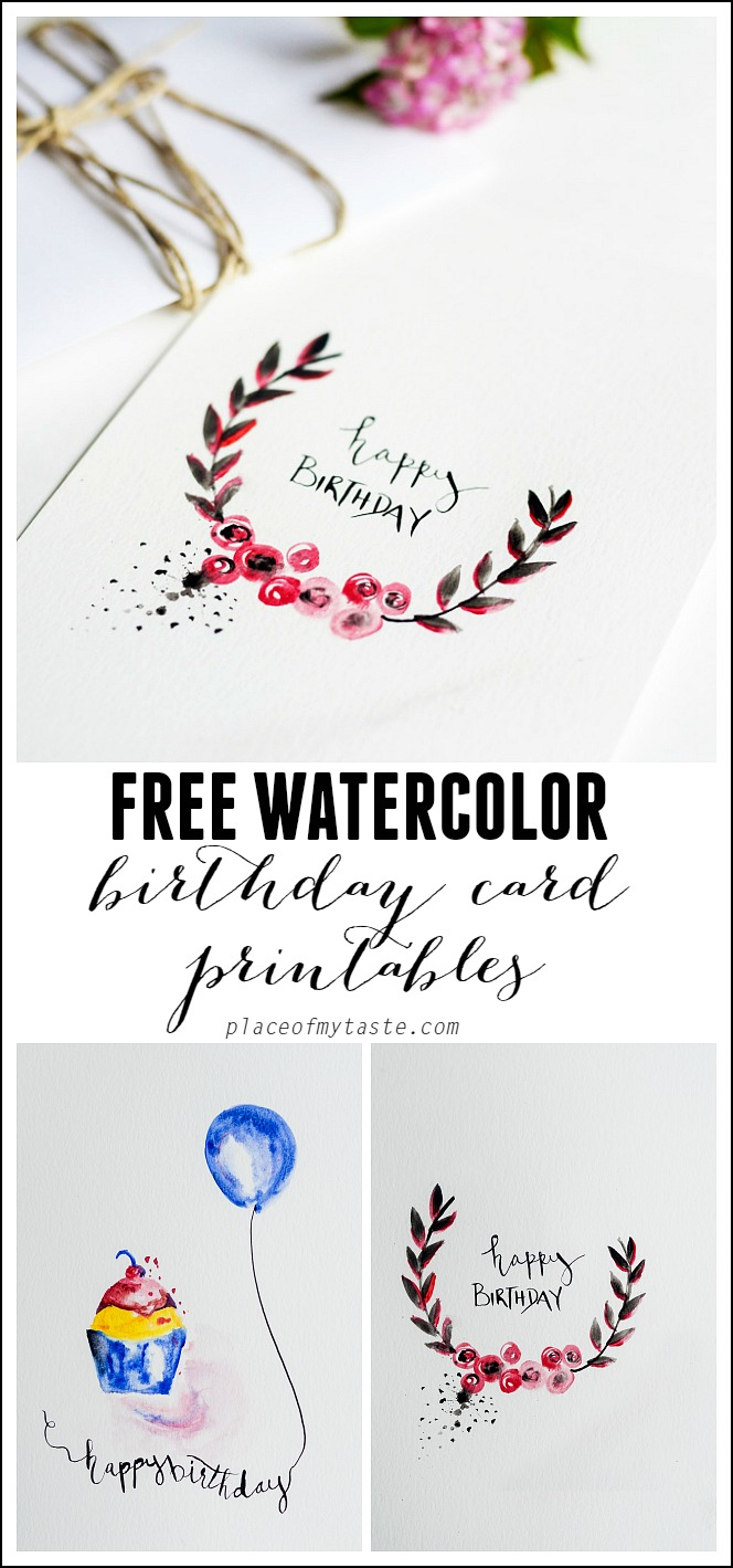 free printable birthday cards for best friends ; FREE-Watercolor-Birthday-card-printables
