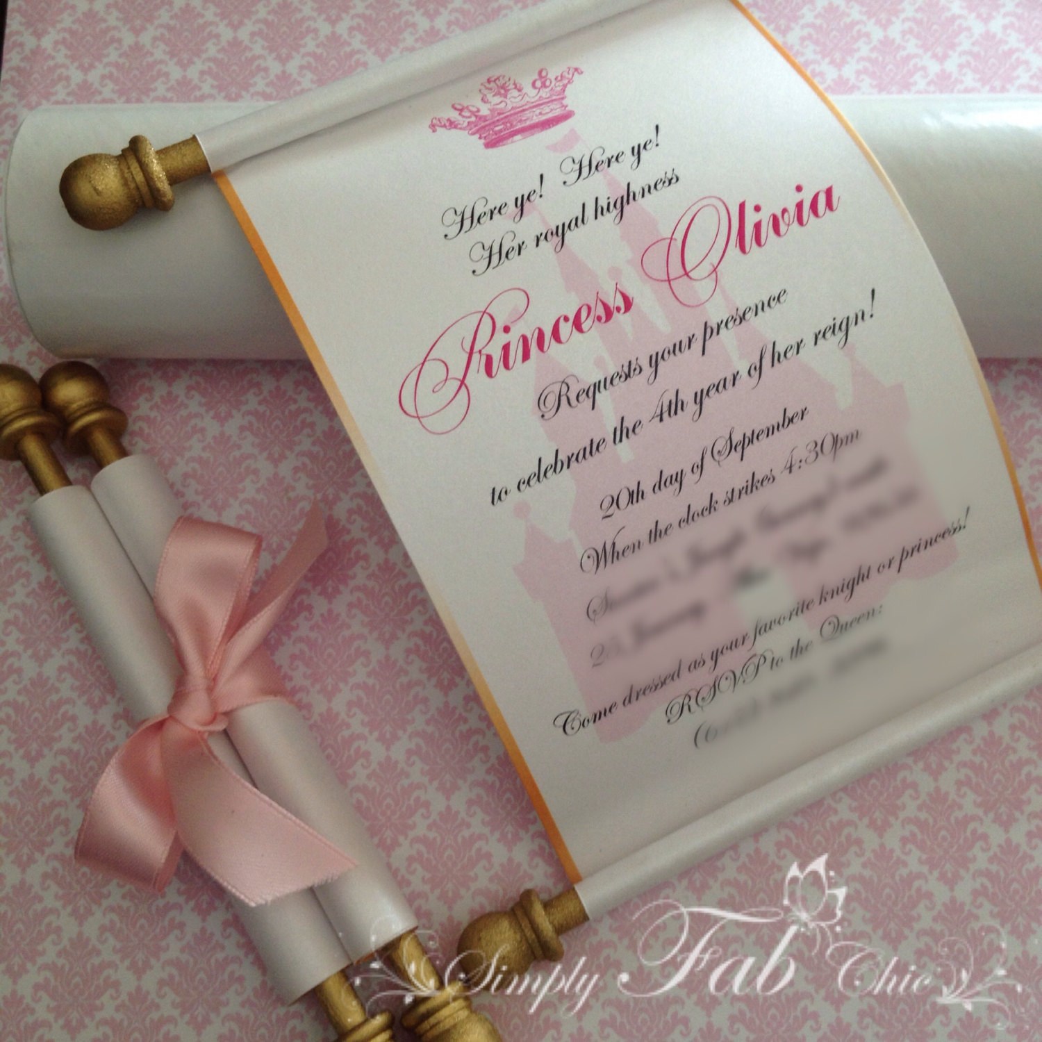 free printable birthday scrolls ; princess-party-invitations-free-printable-royal-disney-princess-scroll-invitation-birthday-wedding