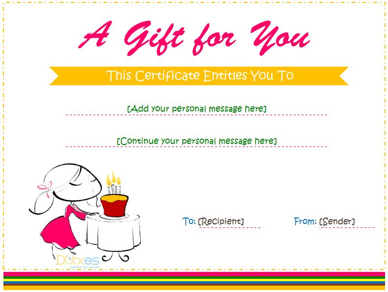 free printable blank birthday coupons ; Gift-Certificate-Template-for-Girl
