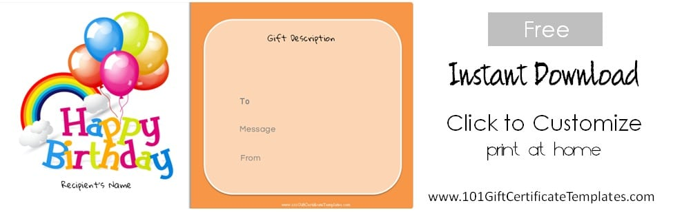 free printable blank birthday coupons ; birthday-gift-certificate-template-141