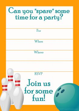 free printable bowling birthday party invitations for kids ; 1c141e4995340510982d4557c6a08433