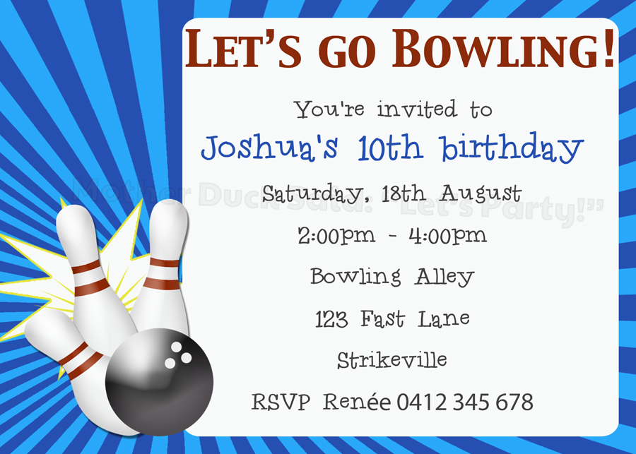 free printable bowling birthday party invitations for kids ; Bowling-Party-Invites-Templates-Spectacular-Free-Printable-Bowling-Birthday-Party-Invitations