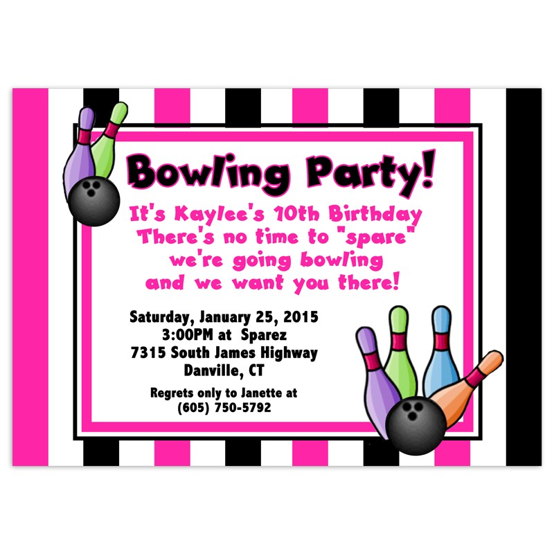 free printable bowling birthday party invitations for kids ; Latest-Bowling-Party-Invitations-To-Design-Surprise-Party-Invitations