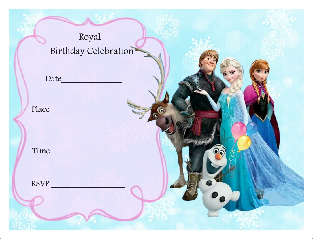 free printable frozen birthday invitations ; printable-frozen-birthday-invitations-with-fascinating-Birthday-Invitation-Templates-as-a-result-of-an-application-using-a-felicitous-concept-20