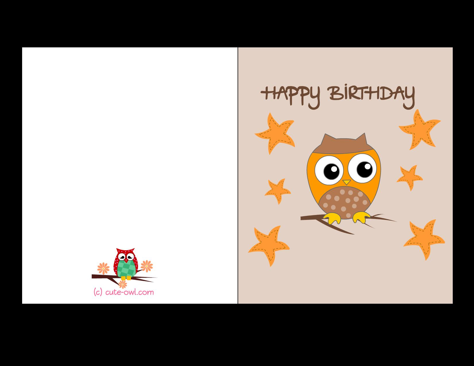 free printable funny birthday cards for teenagers ; owl-birthday-card-1