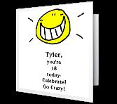 free printable funny birthday cards for teenagers ; printable-cards-milestone-birthday-youre-18-today--3172711a
