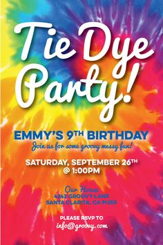 free printable tie dye birthday invitations ; 5aa2c468ae56e8093bc3c961f07c7634