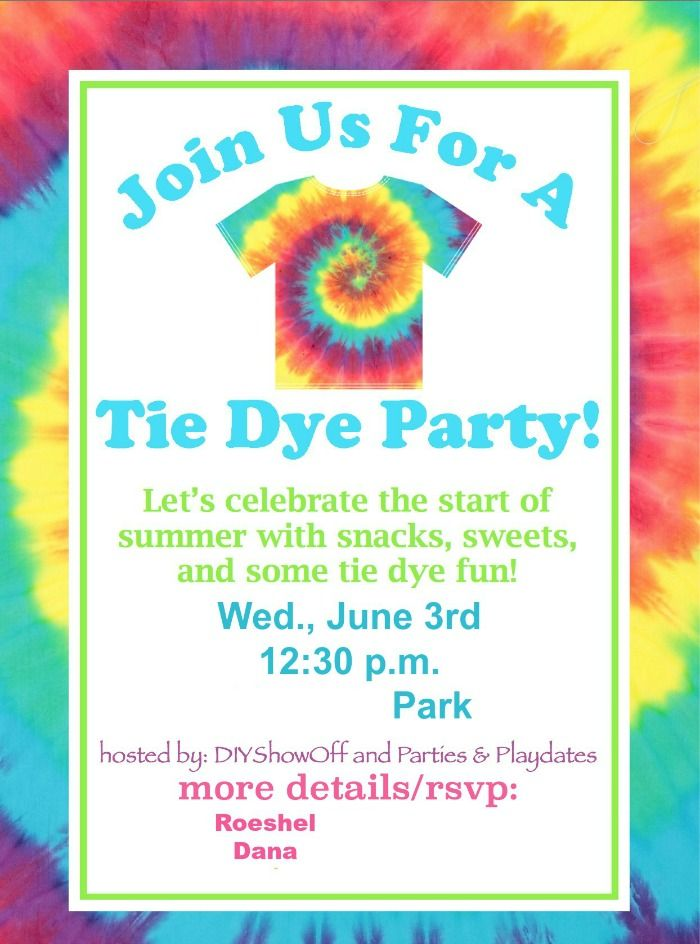 free printable tie dye birthday invitations ; Great-Tie-Dye-Party-Invitations